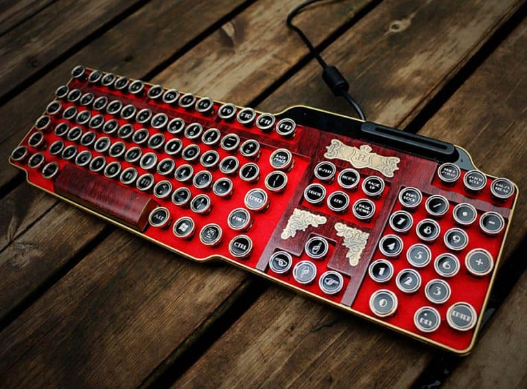bing-hand-craft-red-steampunk-keyboard-computer-accessories