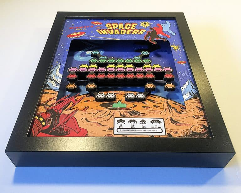 glitch-artwork-space-invaders-arcade-3d-shadow-box-foamboard