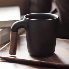 Wood, earth and fine craftsmanship makes the perfect cup.