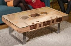 JSD Cassette Tape Table Cool Wooden Furniture