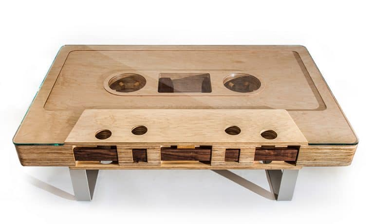 JSD Cassette Tape Table Novelty Coffee Table