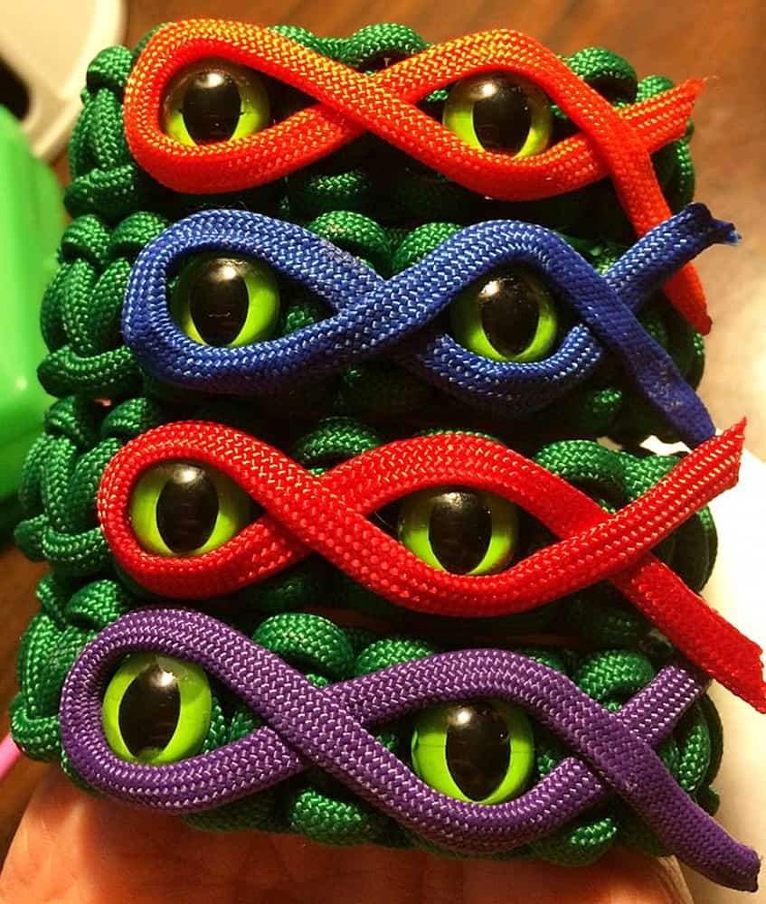 Knot kreations teenage mutant ninja turtles paracord for What can you make out of paracord