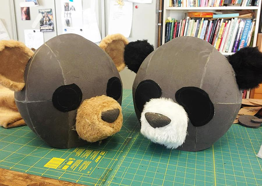 Tentacle Studio Panda & Teddy Bear Masks - NoveltyStreet