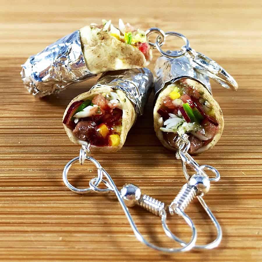 urtnrackys-burrito-earrings-hand-crafted