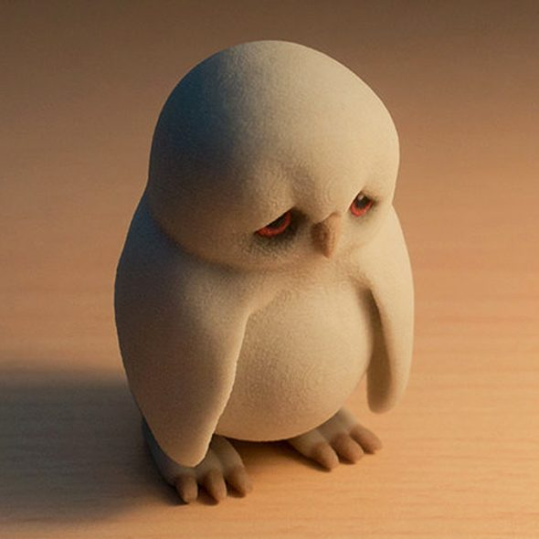 manuel-poehlau-3d-printed-sad-owl-figurine-made-with-sandstone
