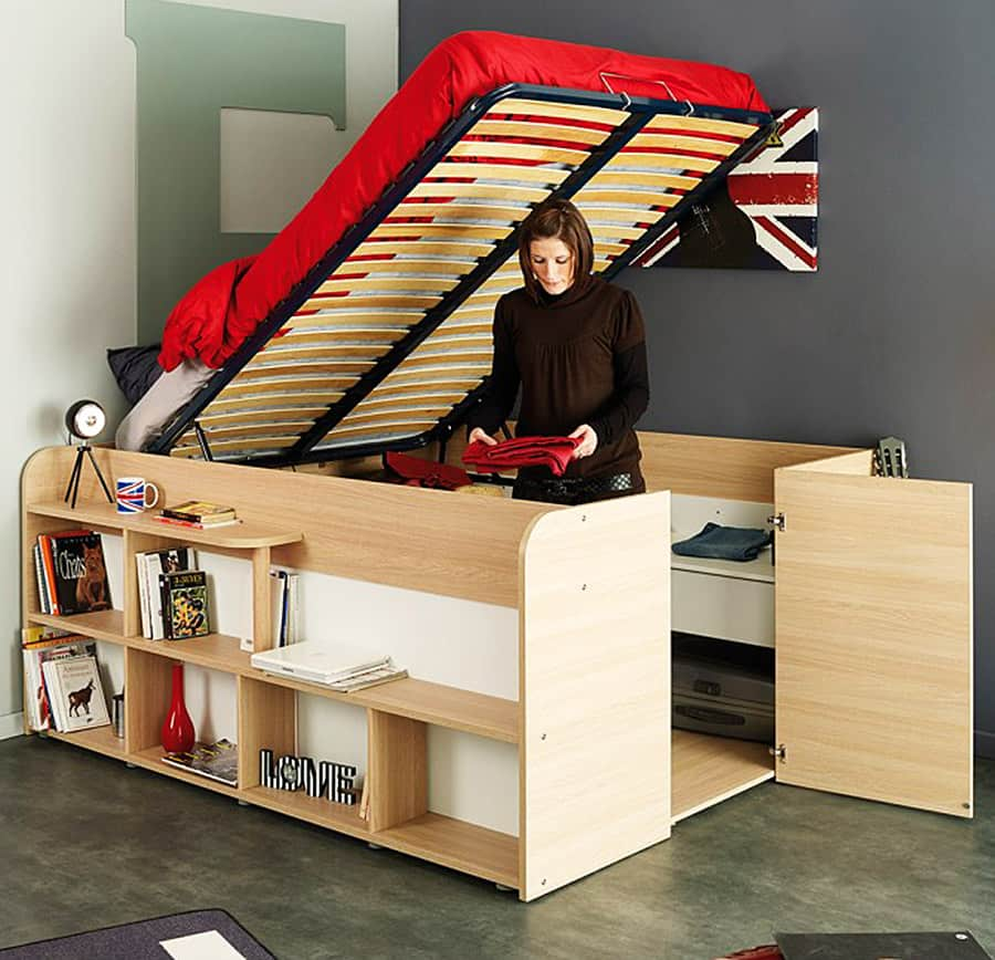 Spacesaver Bed parisot space up bed and storage - noveltystreet