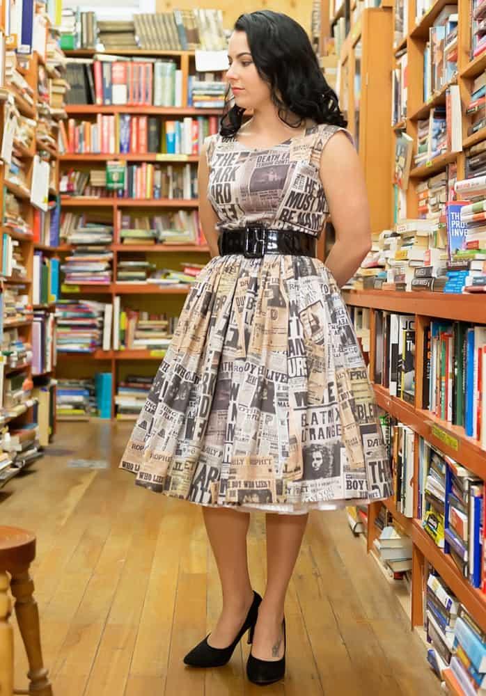 sarsparilly-50s-style-wizard-headlines-cotton-dress-handmade-item