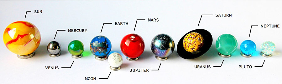 west-end-collectables-solar-system-orrery-globe-marble-collection-dekstop-display