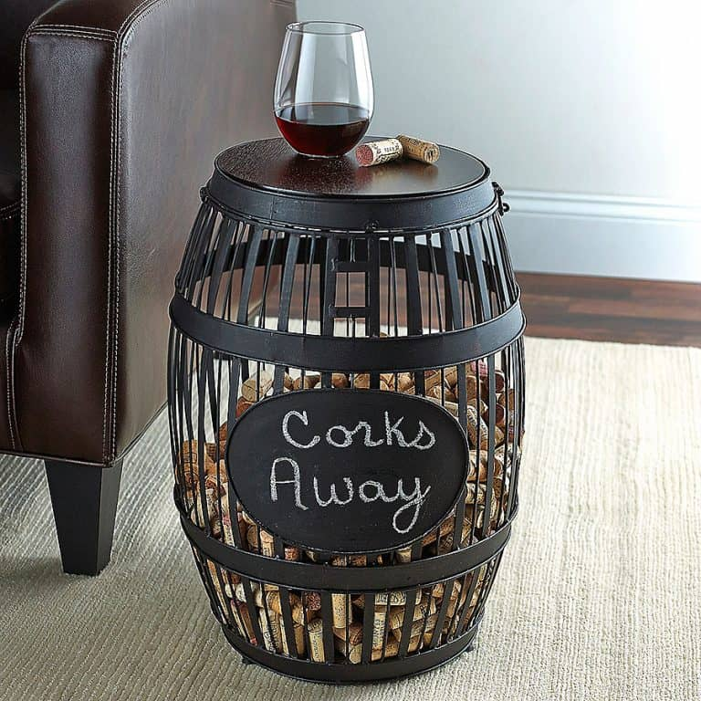 wine-enthusiast-barrel-cork-catcher-accent-table-home-furniture
