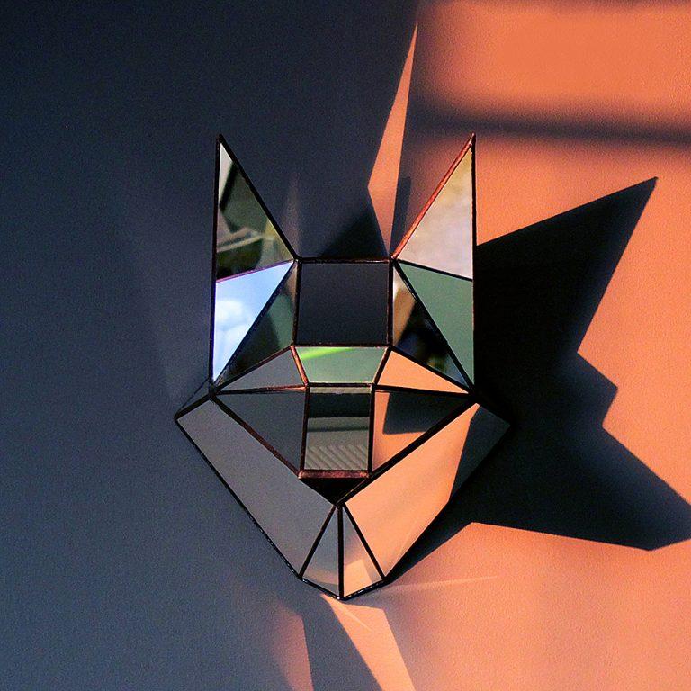 roslynka-polygonal-mirror-wolf-stained-glass