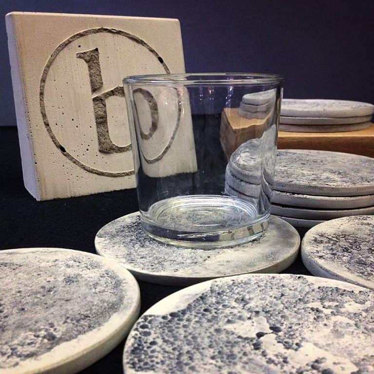 Bronsen Company Moon Coasters Glass Coaster