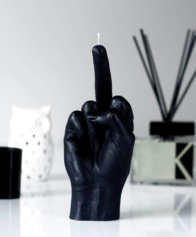 CandleHand Fck You Hand Gesture Candle Insulting Gift