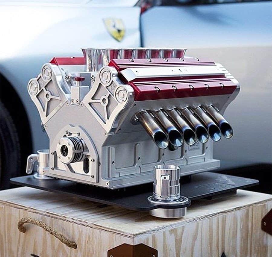 Make coffee, Formula One style.