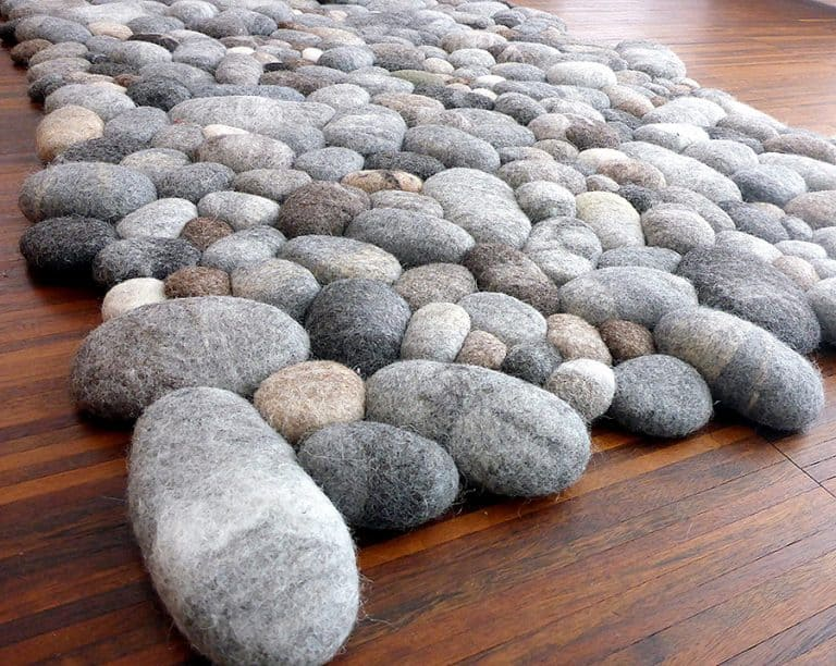 Fluss Design Felt Stone Carpet Made to Order