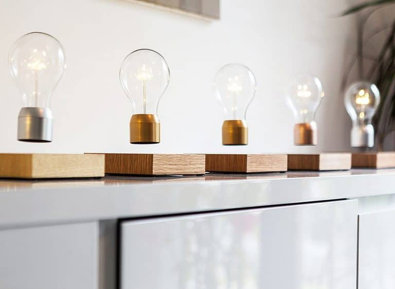 Flyte Floating Levitating LED Light Bulb Display