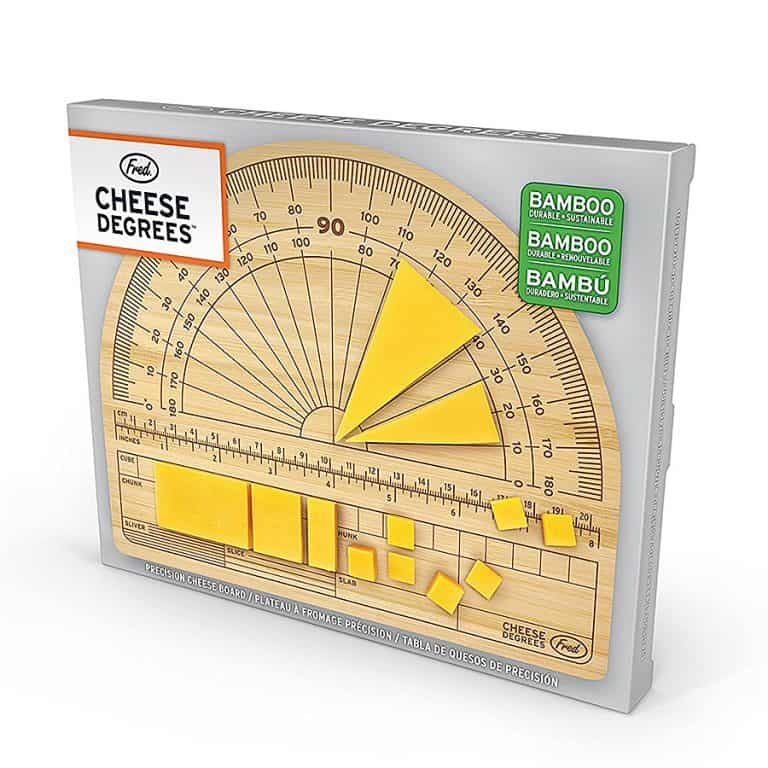 Fred & Friends Cheese Degrees Bamboo Cutting Board Crafted from Durable Bamboo Wood