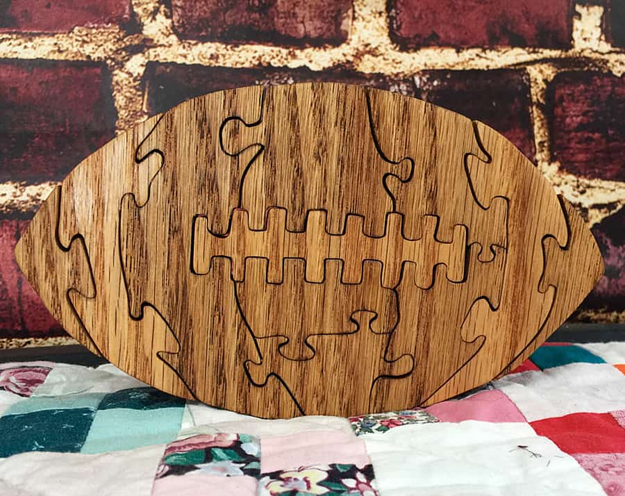 GCR Designs Football Wooden Puzzles Made to Order
