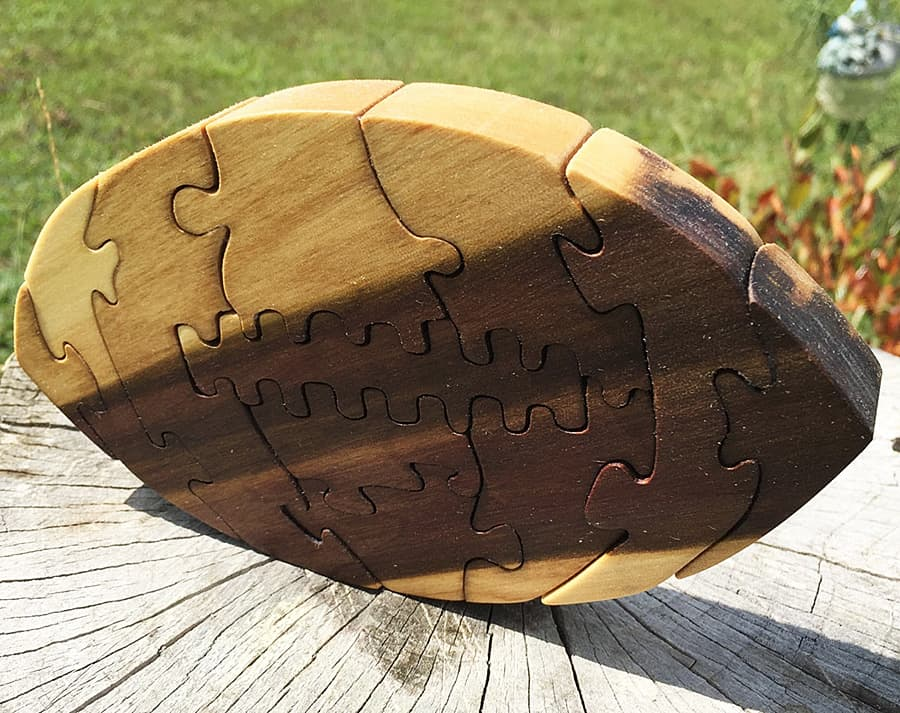 GCR Designs Football Wooden Puzzles Toys