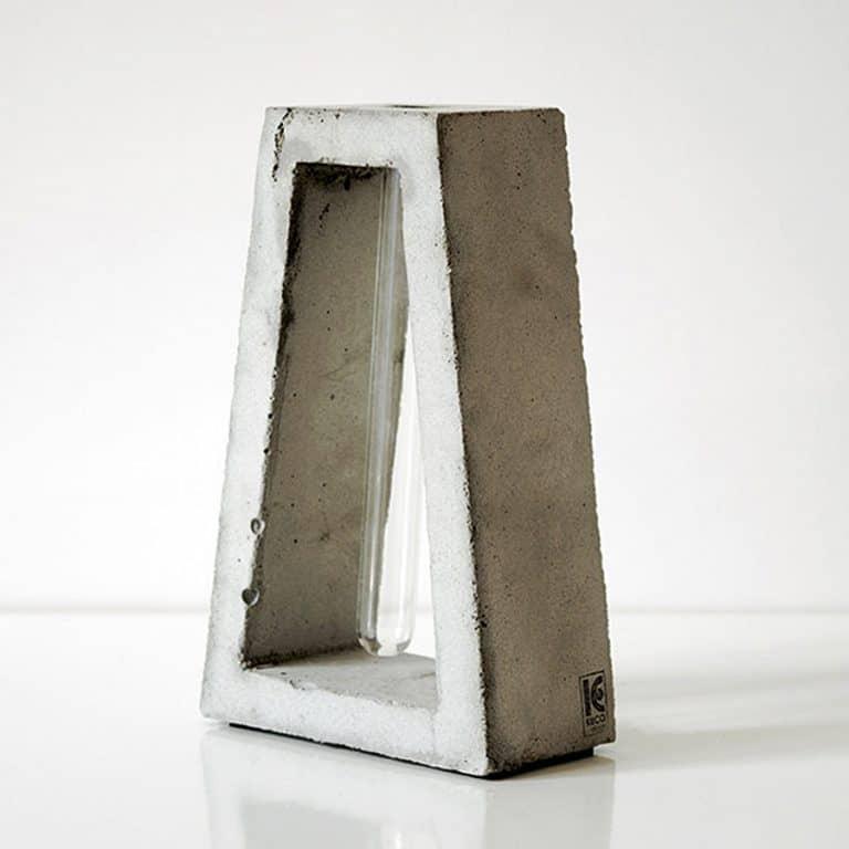 Kuco Design Minimalistic Test Tube Concrete Vase Modern Interior