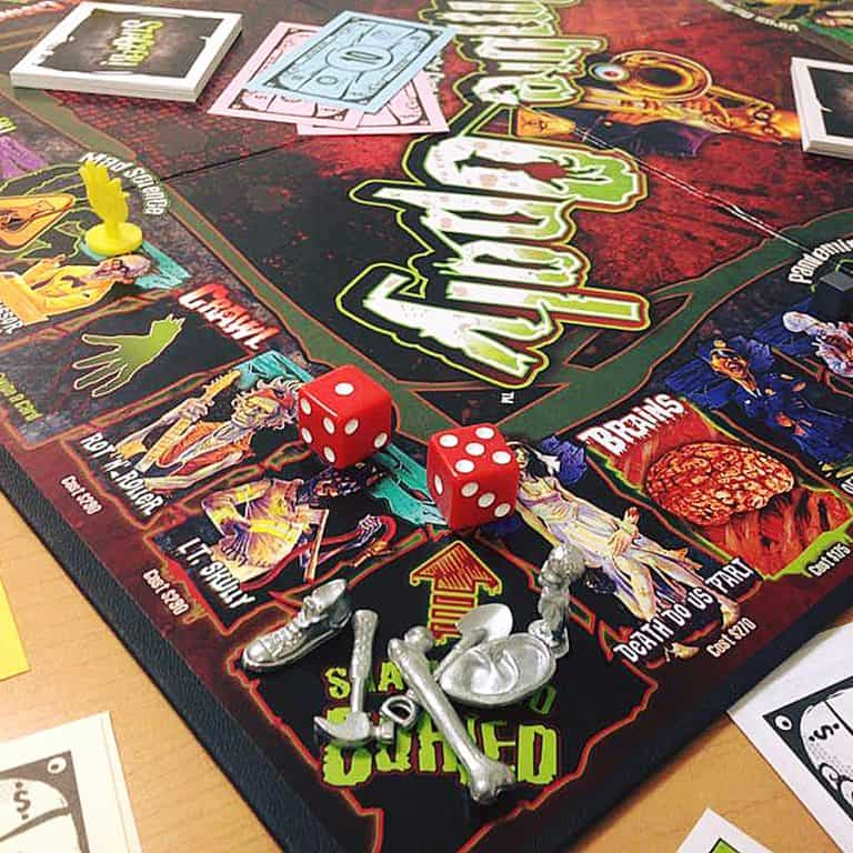 Late for the Sky Zombie-Opoly Board Game Home Activity