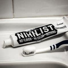 No fuss no fluff toothpaste.