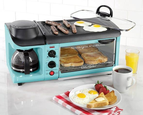 Nostalgia'50s-Style 3-In-1 Breakfast Station Pan Grill