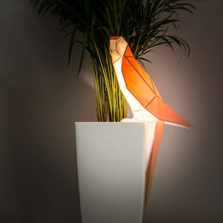 Owl Paper Lamps DIY Parrot Paperlamp Garden Accent