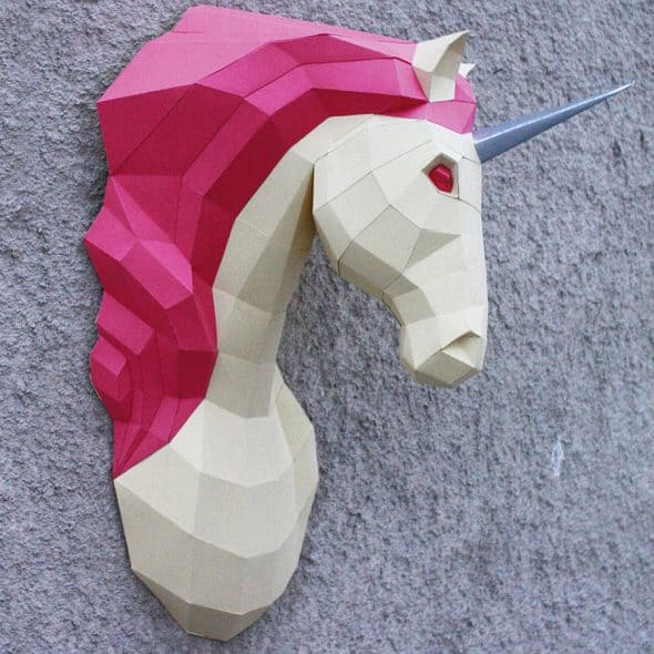 oyxgami-papercraft-unicorn-trophy-do-it-yourself