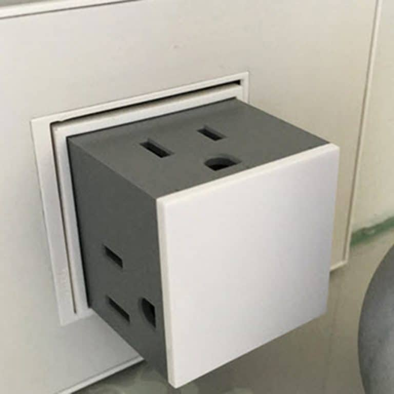 Pass & Seymour Adorne Pop Out Outlet 3 Plugs Capacity