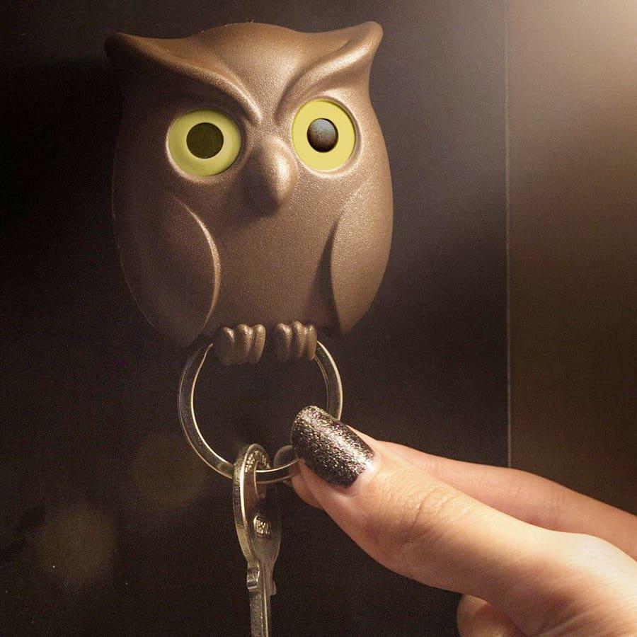 qualy-night-owl-keyring-holder-home-decor