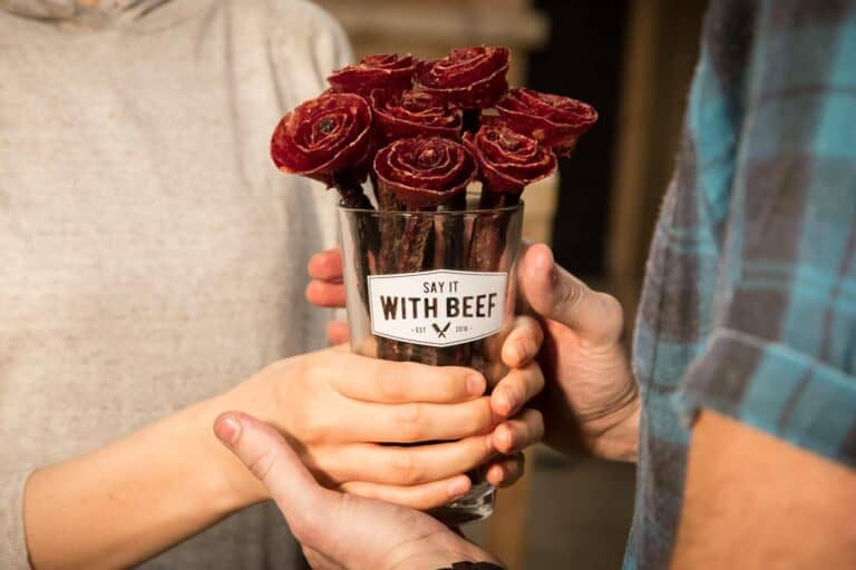 Say It With Beef Jerky Flower Bouquet Cool Valentines Gift Idea