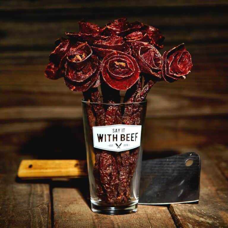 Say It With Beef Jerky Flower Bouquet Edible Art