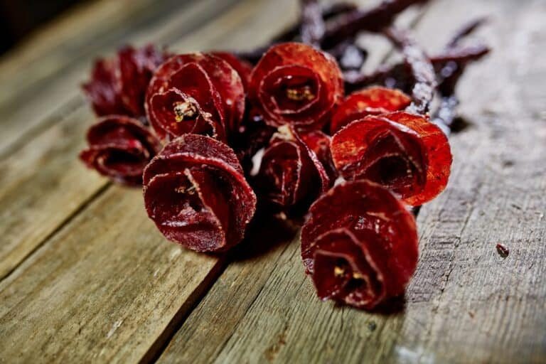 Say It With Beef Jerky Flower Bouquet Made of 100% Meat
