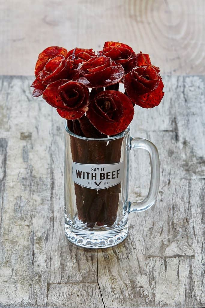 Say It With Beef Jerky Flower Bouquet Rose