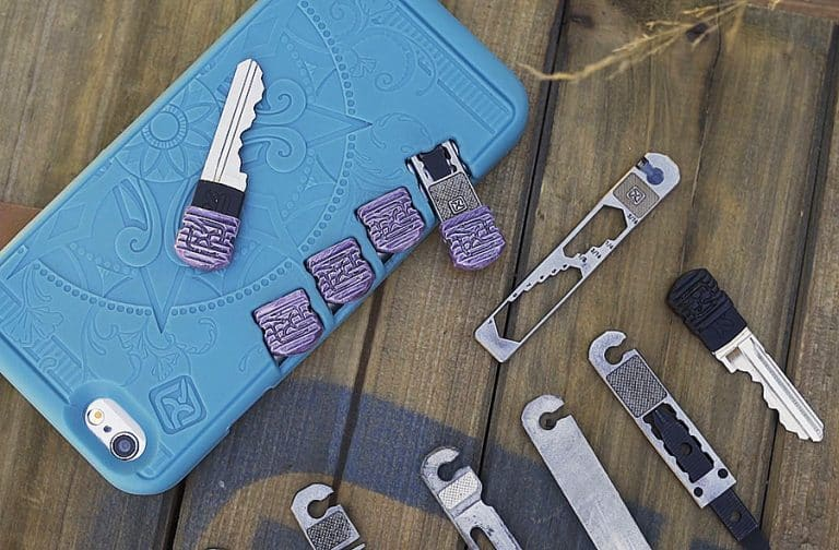 Stowaway Tools iPhone Case Multi Tool Components