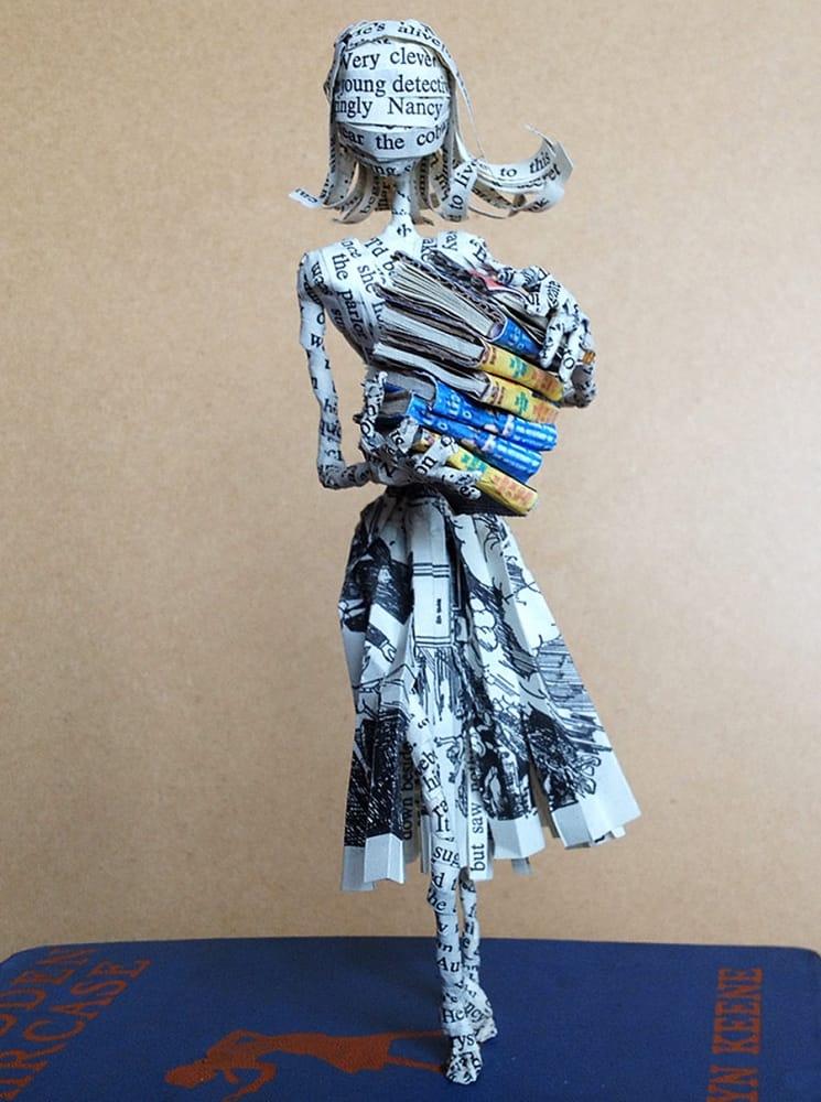 The Poet Trees Nancy Drew Paper Sculpture Book Art