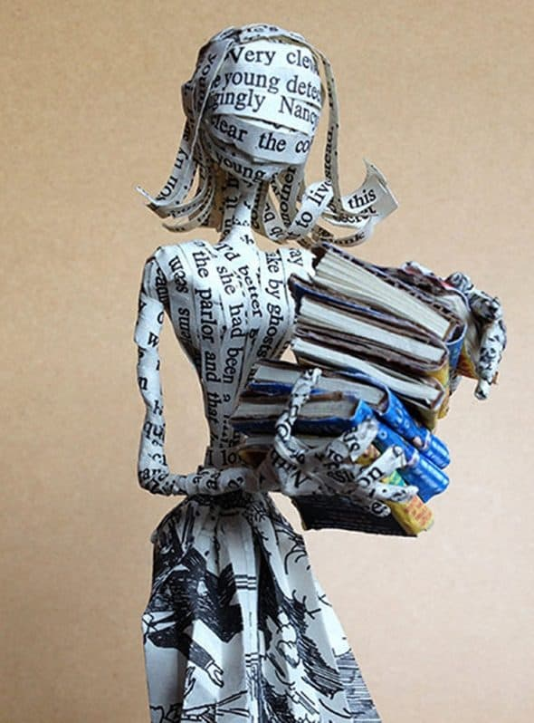 The Poet Trees Nancy Drew Paper Sculpture Moisture Protected
