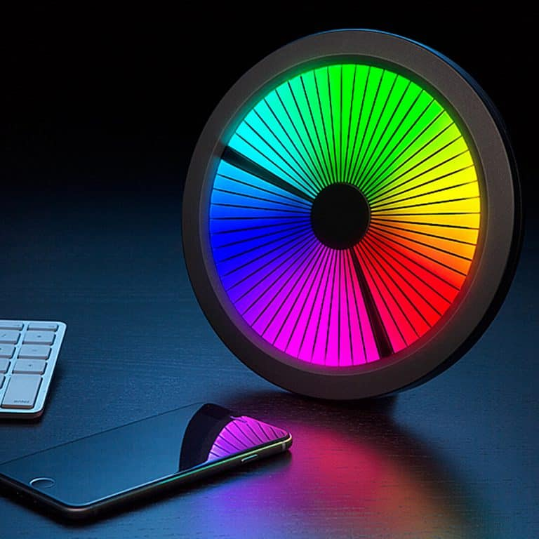 ThinkGeek Chromatic LED Color Spectrum Clock Full Color
