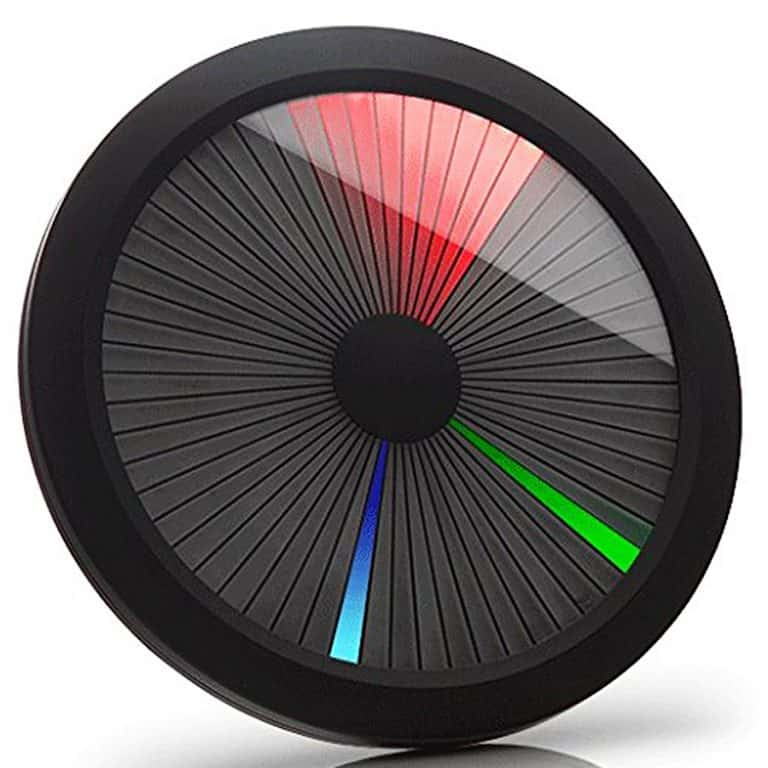 ThinkGeek Chromatic LED Color Spectrum Clock Six Different Animations