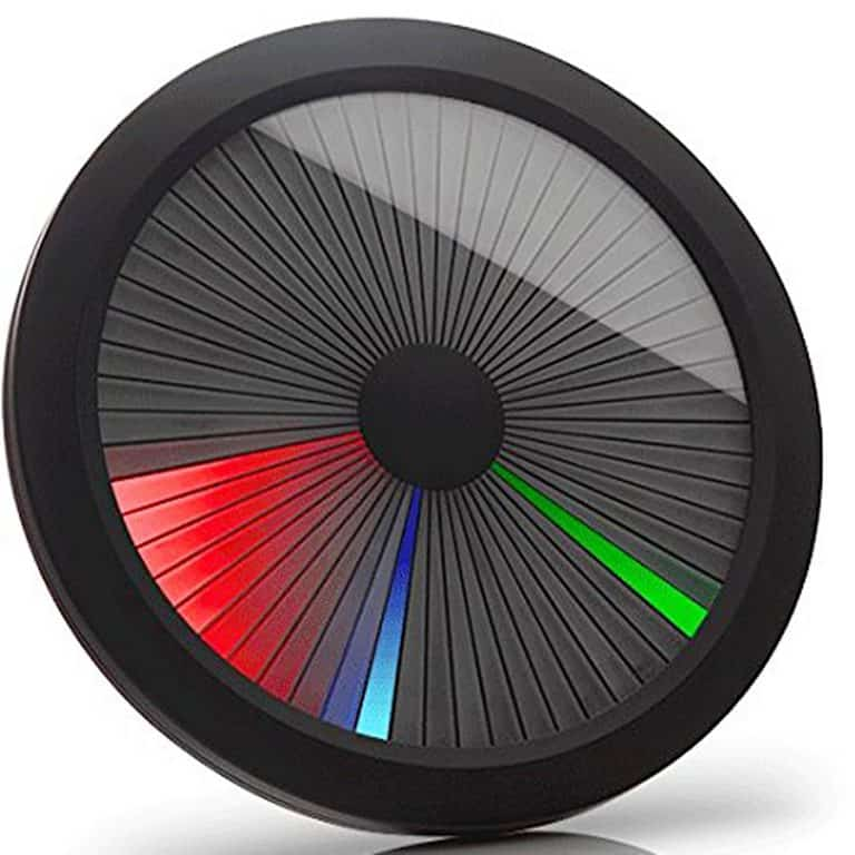ThinkGeek Chromatic LED Color Spectrum Clock Table Clock