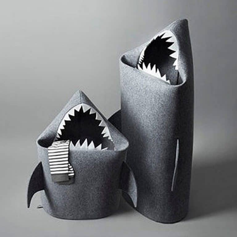 Uczarczyk Baby Shark Felt Storage Basket Handmade Product