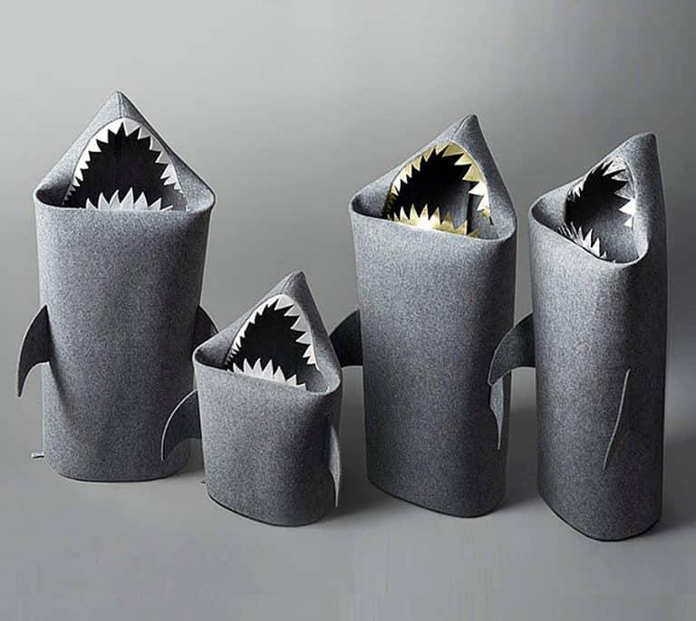 Uczarczyk Baby Shark Felt Storage Basket Toy