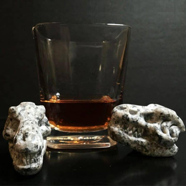 Whiskey Bones Granite T-Rex Skulls Hand Carved