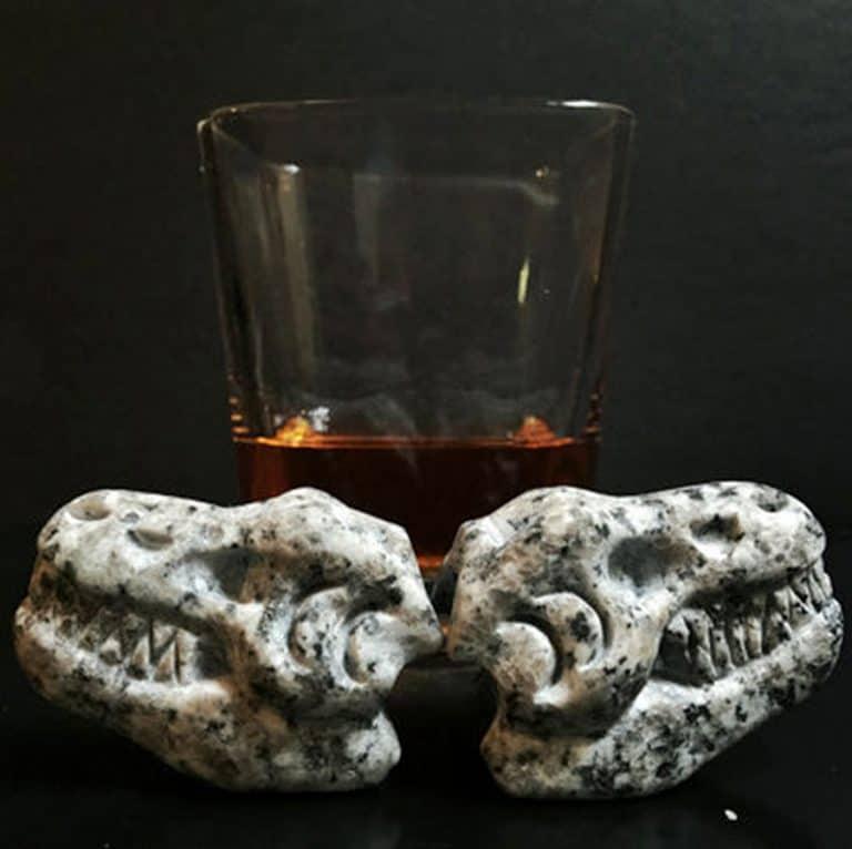 Whiskey Bones Granite T-Rex Skulls Stone Skull
