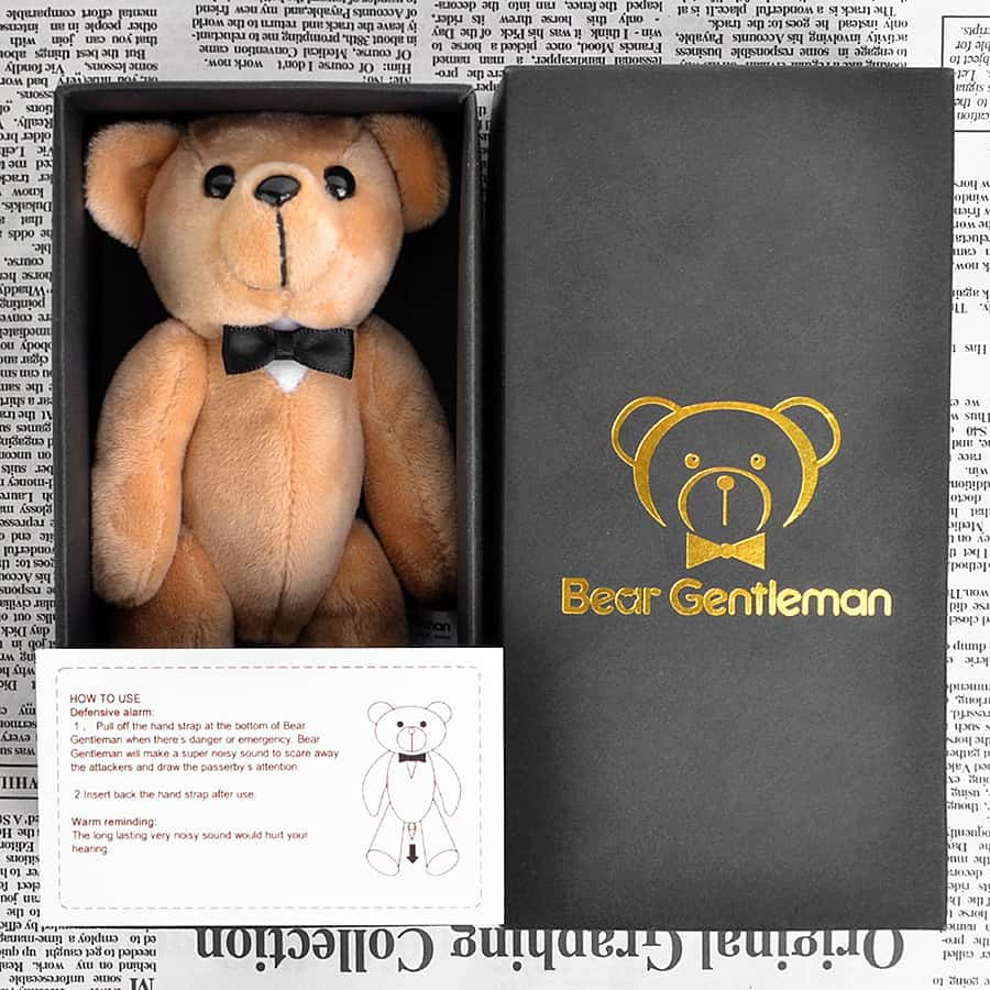 Bear Gentleman Personal Self Defense Alarm Novelty Item