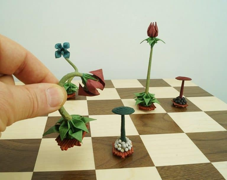 Benagami Origami Bonsai Chess Set Paper