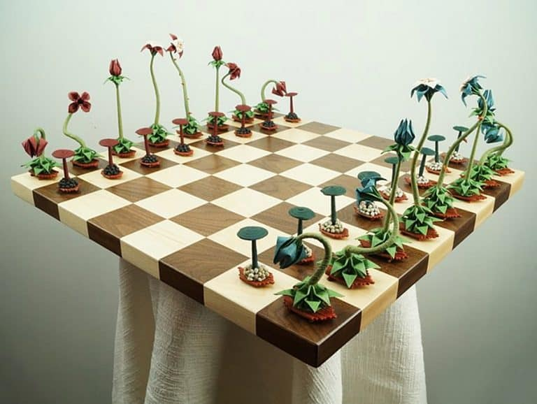 Benagami Origami Bonsai Chess Set Recycled Product