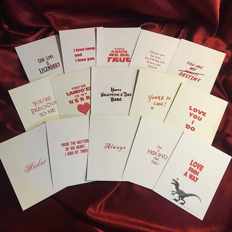 Castle Mc Quade Valentine's Day Card Pack Collection
