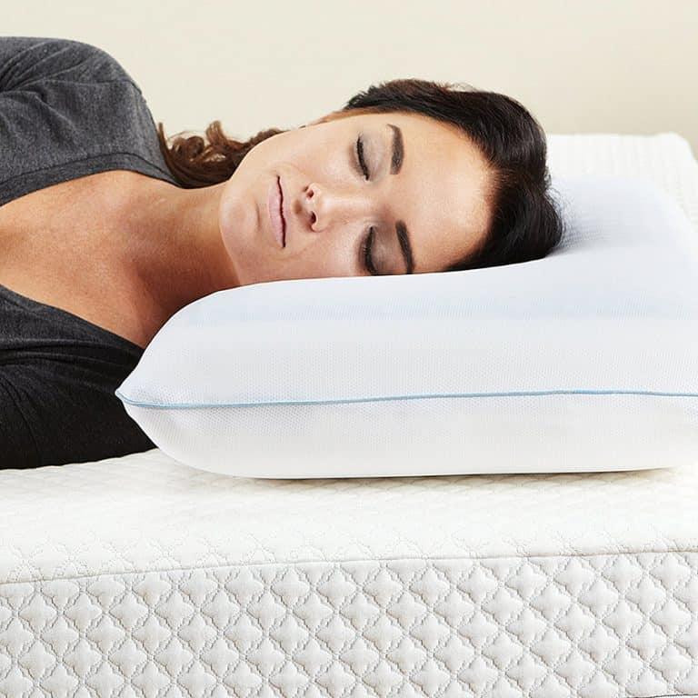 Classic Brands Reversible Cool Gel Memory Foam Pillow Hypoallergenic Material