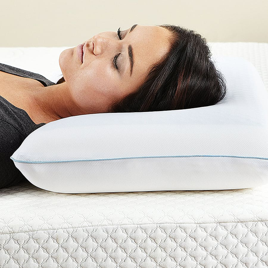Classic Brands Reversible Cool Gel Memory Foam Pillow Polyester